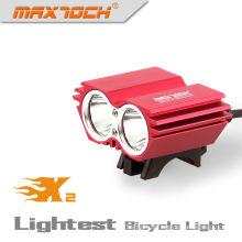 Maxtoch X2 2000LM 4 * 18650 Pacote Inteligente LED 2 * cree Xm-l Bike