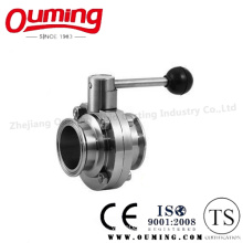Ss304/316 Sanitary Manual Clamped Butterfly Valve