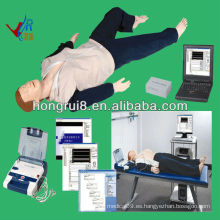 ISO Advanced AED y trauma Sims, maniquí de RCP, maniquí de trauma eed ecg training