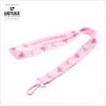 Fancy Style Screen Printing Marvel Love Pink Lanyard para meninas