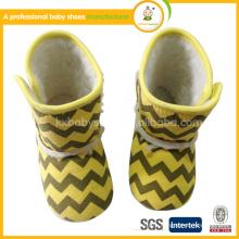 100% Органические хлопчатобумажные детские мягкие нижние туфли для малышей, новорожденные осенью и зимой, чтобы согреться