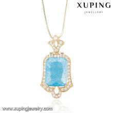 32679-women fashion jewelry 18k gold natural gemstone pendant
