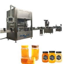 Hot sale automatic paste honey glass jar sanitising filling machine