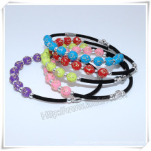 Religious Handmade Catholic Custom Cross Plastic Beads Bracelet (IO-CB166)