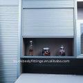 El aluminio de aluminio del gabinete del obturador del rodillo de la fábrica rueda para arriba las puertas
