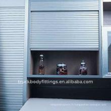 L'aluminium en aluminium de coffret de volet de rouleau d'usine roulent des portes