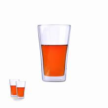 Tasse en verre à double paroi 12 oz