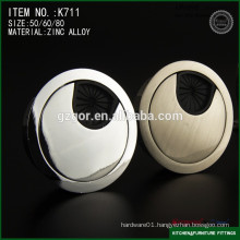80mm zinc alloy computer desk grommet covers