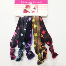 Ribbon Star-Printed Elastic Hair Ties (HEAD-241)