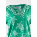 Ladies cotton knitting Tshirt in print