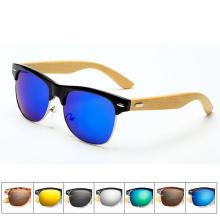 A venda de óculos de sol de bambu uv estilo quente