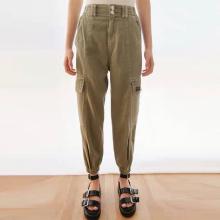Pantalones largos casuales de mujer de moda delgada de moda