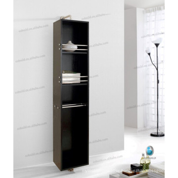 Modern Solid Wood Rotates 360 Degrees Wall Mounted Linen Shelf with Mirror