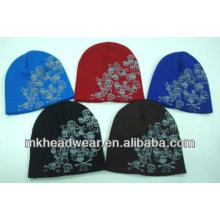 Adult cool skull printing knitted hat