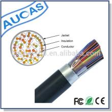 CE RoHS 100 pares de jalea subterránea llenaron los cables de teléfono o el cable de teléfono del par multi cable precio de fábrica