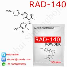 Pó de Rad-140 118237-47-0 da hormona esteróide da venda da fábrica Sarms para o músculo