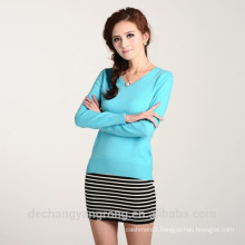 knitted 100% cashmere sweater for women