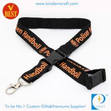 Cordón plano negro al por mayor de Polyeater para la promoción (LN-0201)