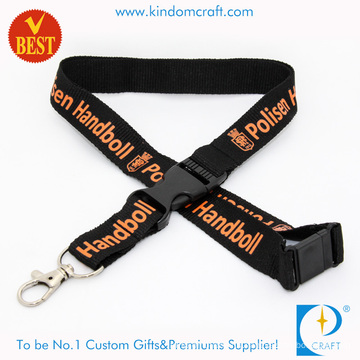 Whole Cheap Polyester Lanyard with Plastic Buckle