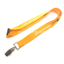Plain Yellow Key Neck Strap Lanyars