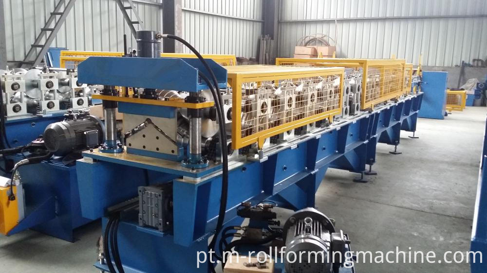 Color coated steel ridge cap making machine