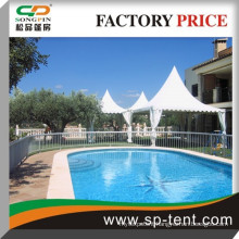 6x6m Aluminum Outdoor Swimming Pool Cover Pagoda Tent For Backyard Gala Party