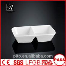 P & T Keramik Fabrik geteilt Untertasse Gericht, quadratische Butter Untertasse
