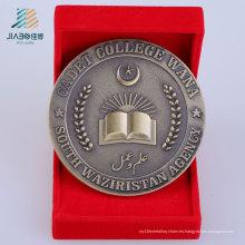 Moneda de bronce de encargo del desafío del metal de la antigüedad del bastidor para el regalo del recuerdo