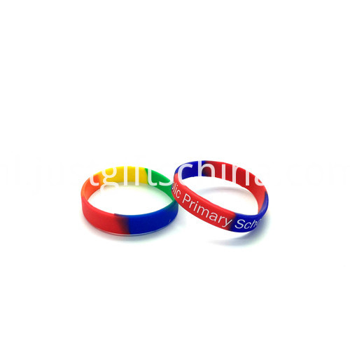 Promotional Segment Printed Silicone Wristbands-180122mm1
