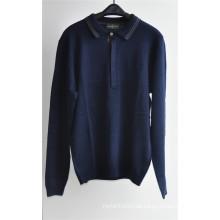 Langarm Strick Pullover Pullover für Männer