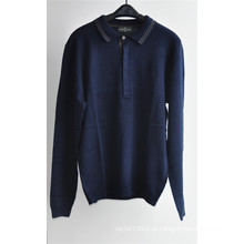 Manga comprida sweater pullover para homens