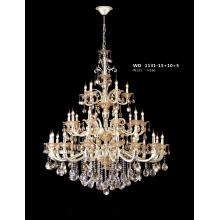 Luxury Brass with Crystal Decoration Chandelier (WD1131-15+10+5)