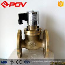 válvula de solenoide de vapor ZCZ de conexión de brida de alta calidad