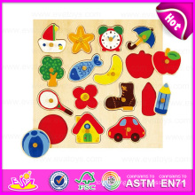 2015 New Classic Wooden Jigsaw Puzzle Game, Intellectual Game Wooden Jigsaw Puzzle, High Quality 3D Jigsaw Puzzle Game Toy W14m063
