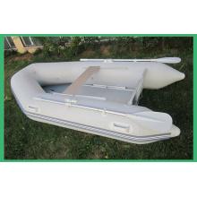 Barco de pesca inflable piso de 2,3 m aluminio con CE
