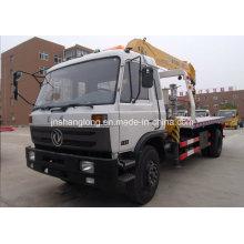Dongfeng 5 Ton Flat Repair Truck Wrecker with 3 Ton Crane