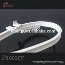 Weiße Farbe transparente PVC-Duschvorhang, transparente PVC-Duschvorhang, Kunststoff-Läufer Pvc Kunststoff-Rohr