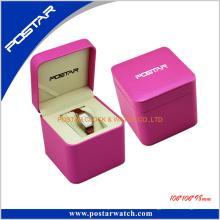 Großhandel Leder Uhr Box Fällen mit Kissen Verpackung Geschenkbox
