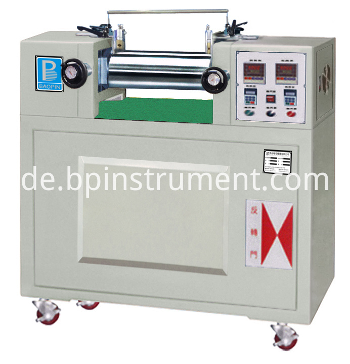 Electric Heating Lab Double Roll Mill/ White