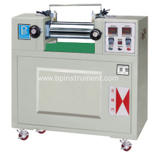 Electric heating type lab double roll mill