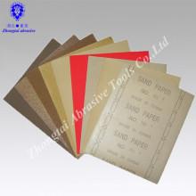 Papel de lija de madera de cuarzo de 9''x11 ''