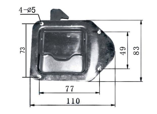 SS Tool Box Lock Part