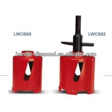 Perforador de núcleo seco de diamante soldado con láser 68mm, 82mm