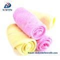 Super soft bamboo fiber natural white baby washcloth