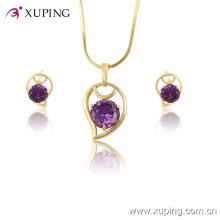 Xuping gros femmes à la mode en plaqué or bijoux en cristal -61329