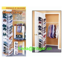 Shoes Away Hanging Organizer 30 Pairs Space Closet TV Holder Over Door