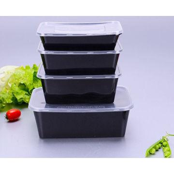 Черная Микроволновая Печь Безопасный Пластиковый Одноразовые Контейнеры Для Пищевых Продуктов