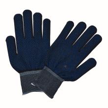 Guantes de punto de PVC puntos de algodón guantes de mano de protección