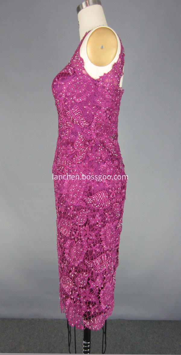 Backless Lace Cocktail Dress