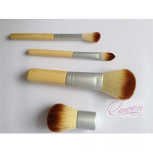 Mini 4PCS Bamboo Cosmetic Makeup Brush Set